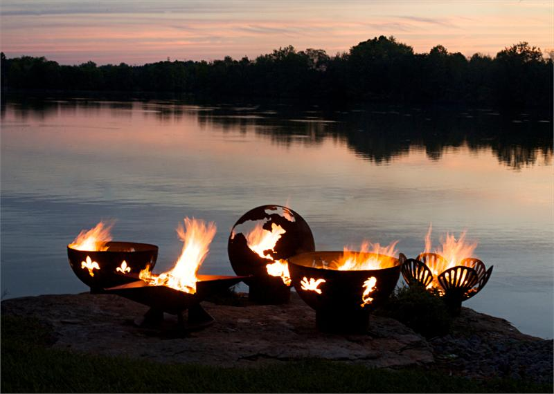 Impressive And Sculptural Outdoor Fire Pit