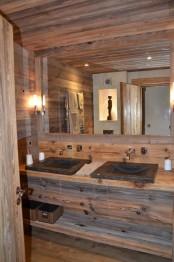 Impressive Chalet Bathroom Decor Ideas