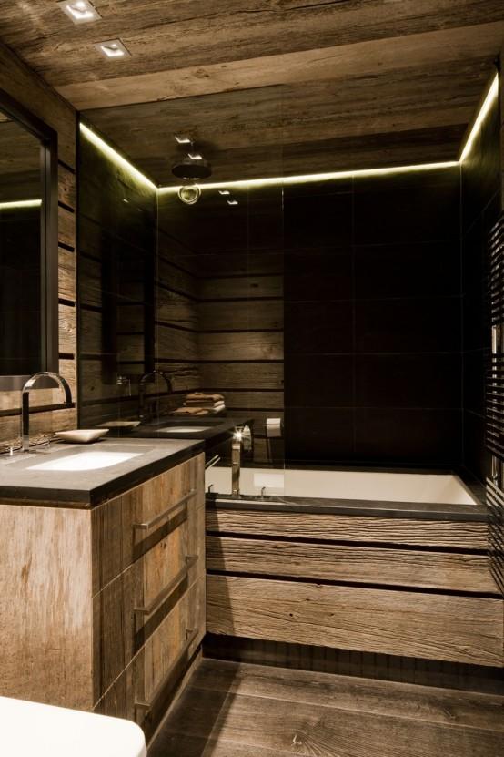 impressive chalet bathroom decor ideas digsdigs