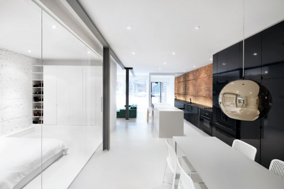 Impressive Minimalist House With Original Details Left