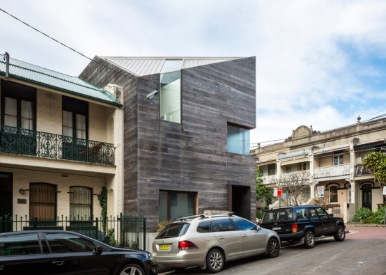 Impressive Stirling House Clad With Weathered Wood