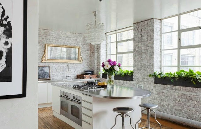 Impressive White Wash Brick Walls Designs