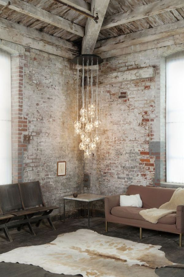 37 impressive whitewashed brick walls designs digsdigs for Cool brick wall designs