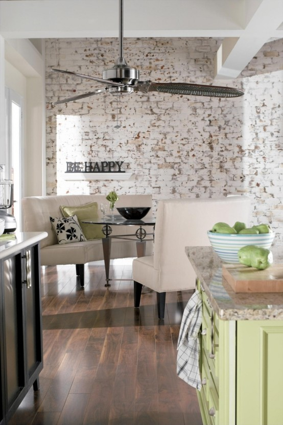 Impressive White Wash Brick Walls Designs