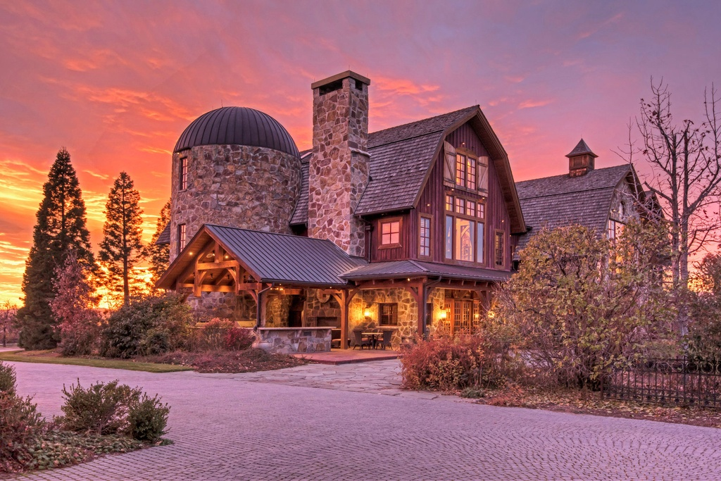Picture Of incredible barn mansion made of wood and stone in utah  1