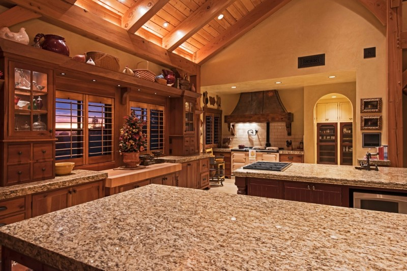 Picture Of incredible barn mansion made of wood and stone in utah  10