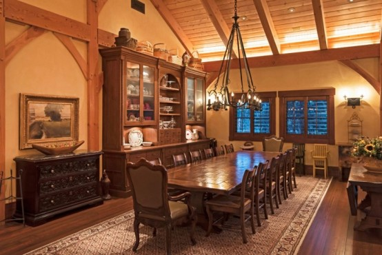 Incredible Barn Mansion Of Wood And Stone In Utah