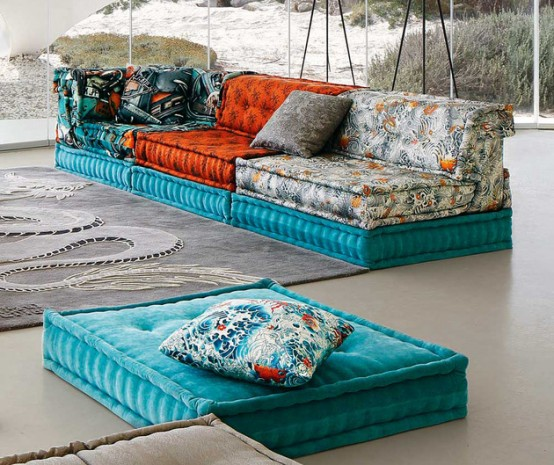 Incredible Mah Jong Sofa With Jan Paul Gautier Upholstery