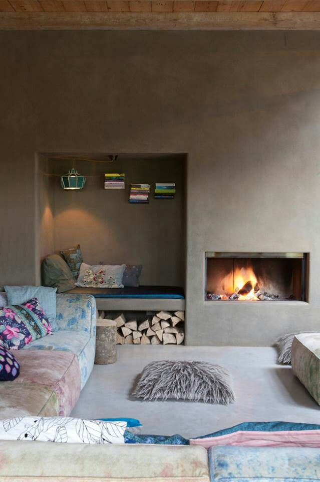 Incredibly Cozy Fireplace Nooks To Curl In