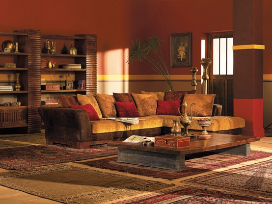 Magic indian ideas for living room and bedroom digsdigs for Indian ethnic living room designs