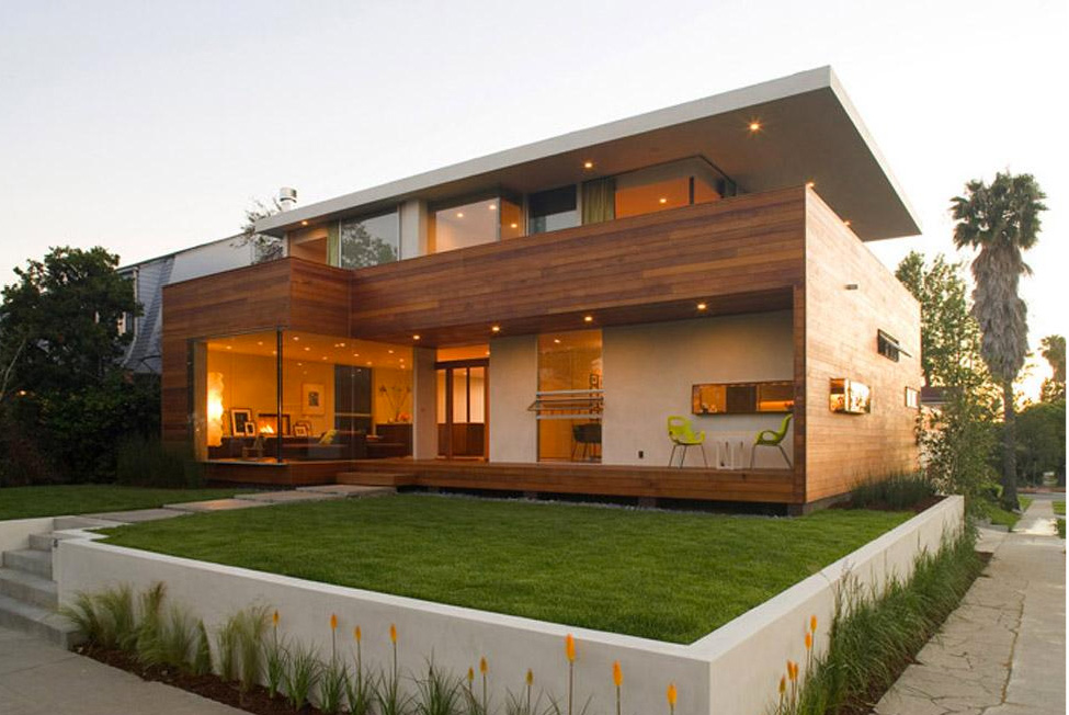 House design to get full advantage of south climate with for Luxury minimalist house