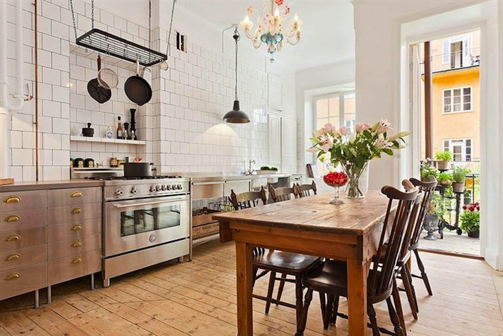 Industrial And Vintage Kitchen Design In Stockholm  DigsDigs
