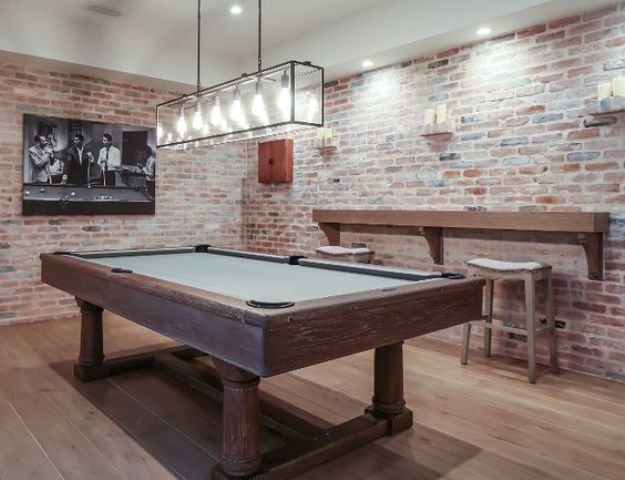 industrial basement pool room