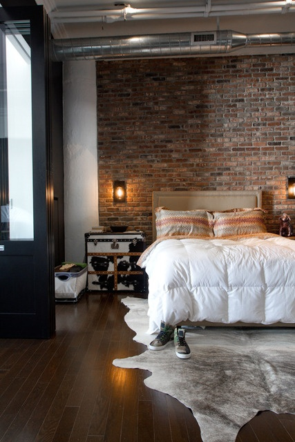 Industrial Bedroom Designs That Inspire & 33 Industrial Bedroom Designs That Inspire - DigsDigs
