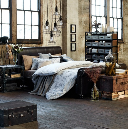 33 industrial bedroom designs that inspire digsdigs. Black Bedroom Furniture Sets. Home Design Ideas