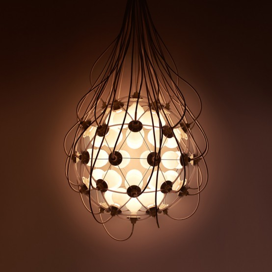Industrial Birth Pendant Lamp Inspired By An Ovum