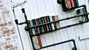 Industrial Black Plumber Bookshelves