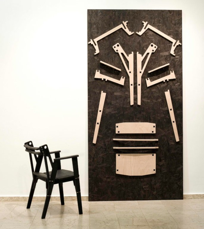 Industrial Chair Collection Made Without Glue Or Screws