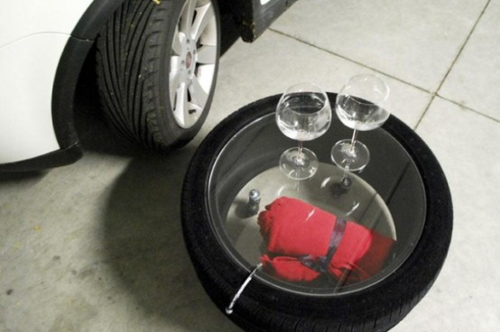Industrial Chic Tire Table By Tavomatico