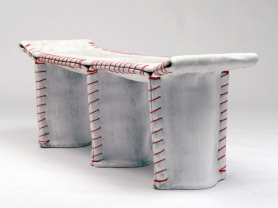 Industrial Concrete Sewn Furniture by Florian Schmid