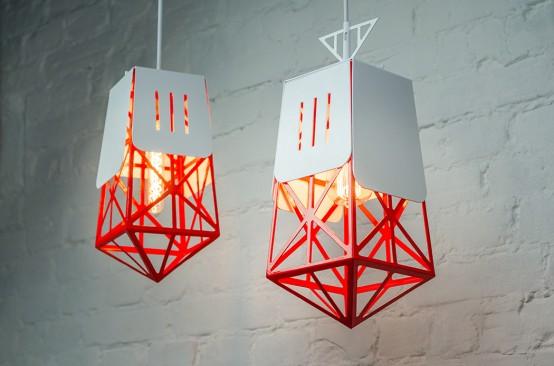 Industrial Contrasting Sand Bridge Lamp
