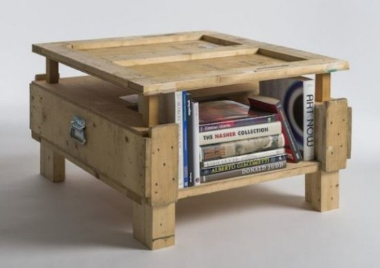 Industrial Furniture Collection Made Of Shipping Crates
