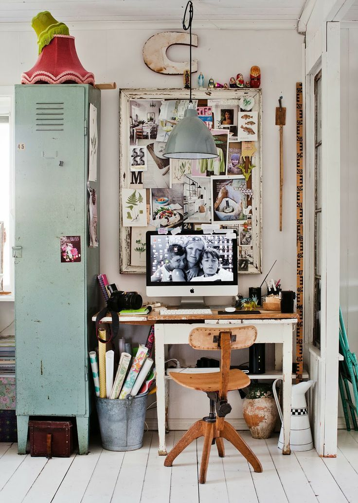 26 industrial home offices that blow your mind digsdigs for Deco maison retro