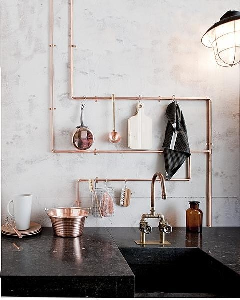 Industrial Interiors With Pipes