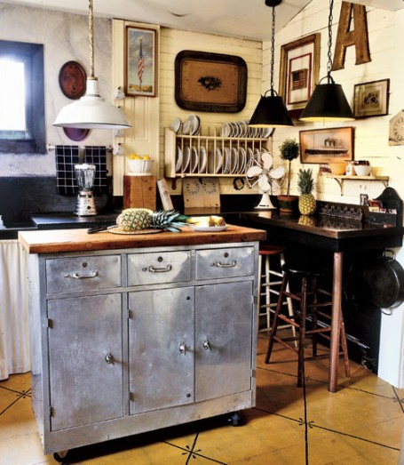 Vintage Industrial Style Kitchen Island Is An Awesome Centerpiece For Any  Kitchen.