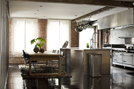 45 cool industrial kitchen designs that inspire digsdigs for Industrial style kitchen