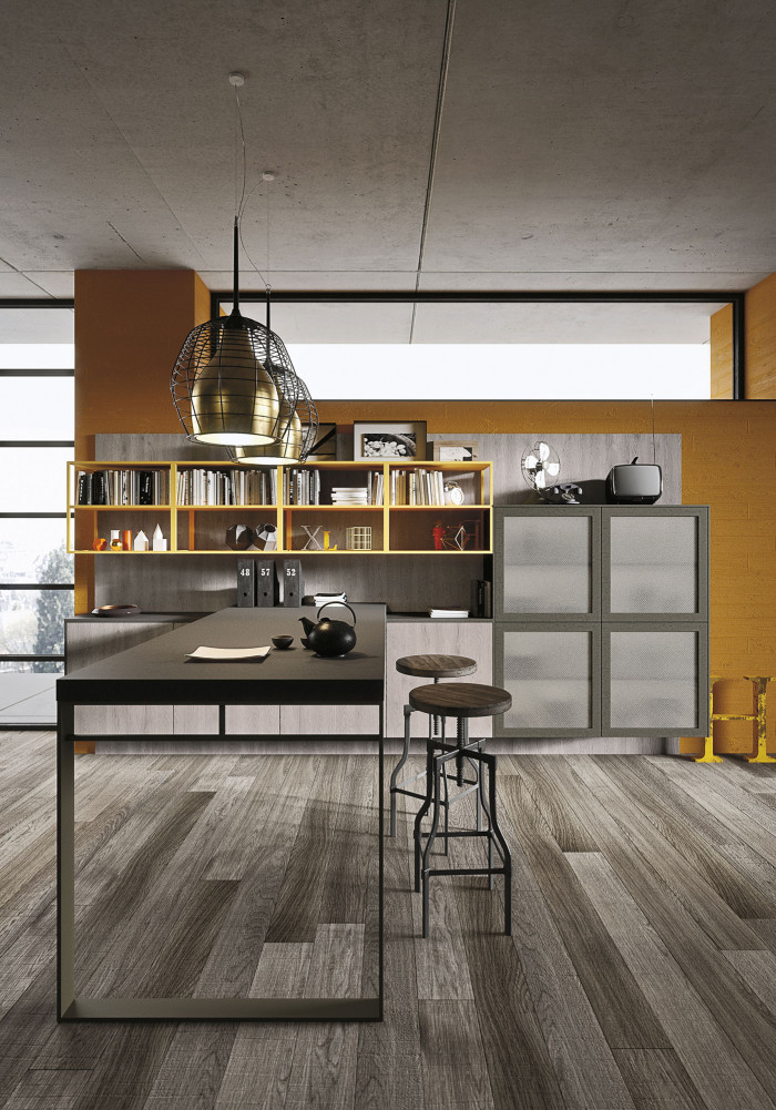 Industrial loft kitchen with light wood in design digsdigs for Industrial modern kitchen designs