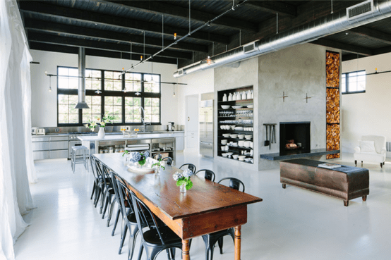 Industrial Space Turned Into A Cozy Open-Plan Home