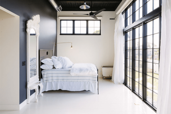 Industrial Space Turned Into A Cozy Open Plan Home
