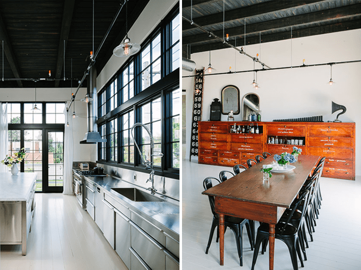 Industrial Space Turned Into A Cozy Open Plan Home Digsdigs