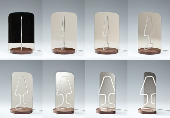 Ingenious Moitie Table Lamp Playing With Reflections