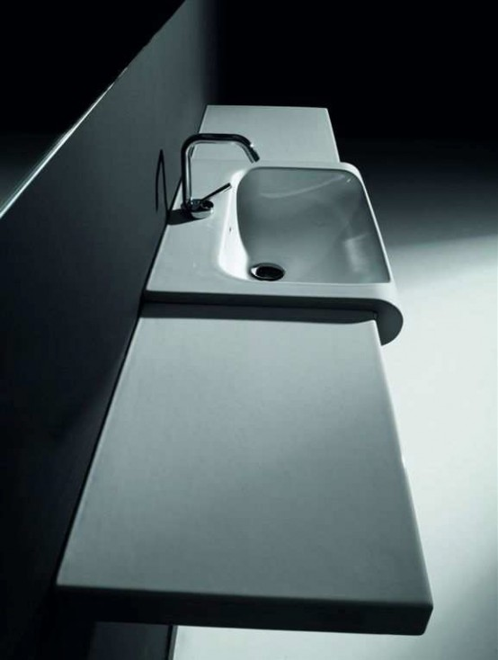 Black and White Modular Bathroom Vanity – Inka Project from Kerasan