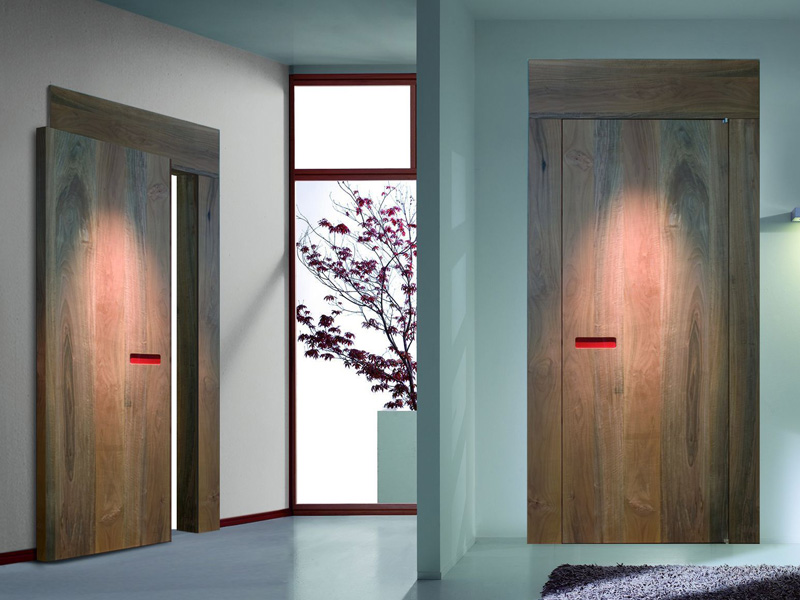 Innovative interior wooden doors with no handle opening for Indoor sliding doors