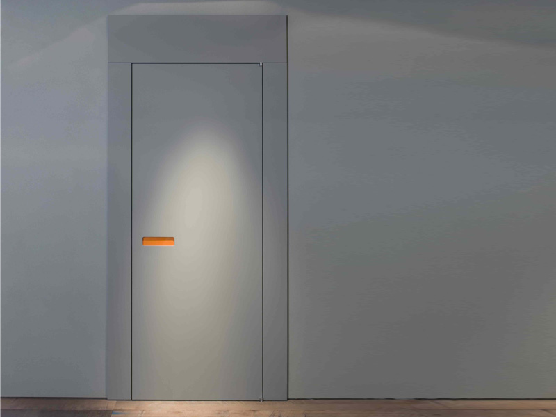 Innovative interior wooden doors with no handle opening for Modern interior doors