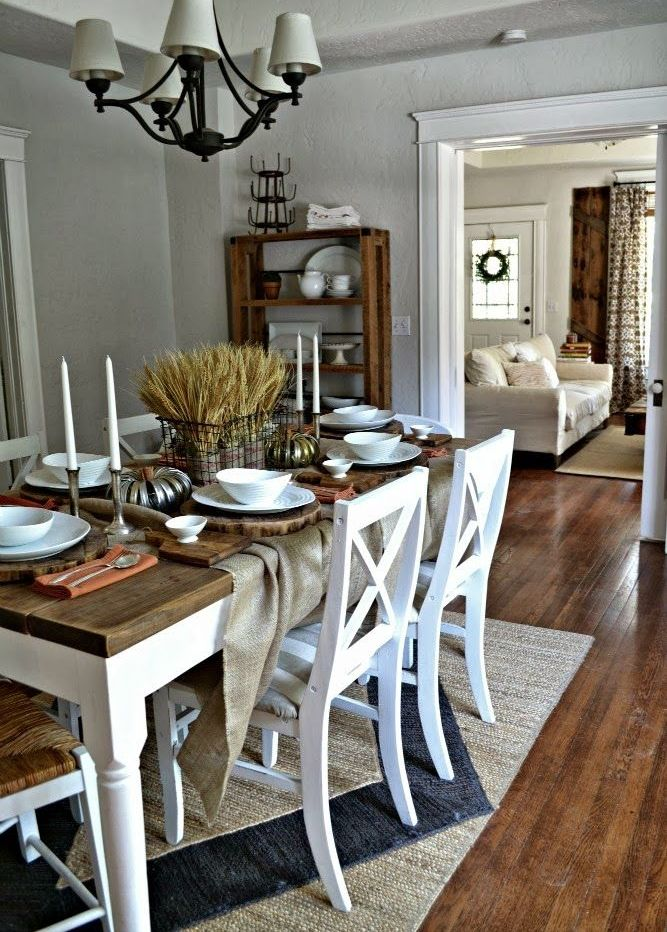 33 inviting and cute vintage dining rooms and zones digsdigs for Dining room table ornaments