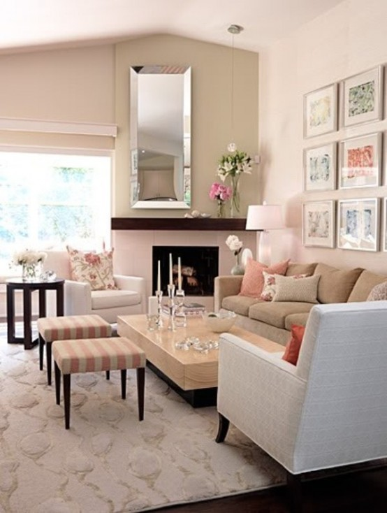 Inspiring Beige Living Room Designs Photo