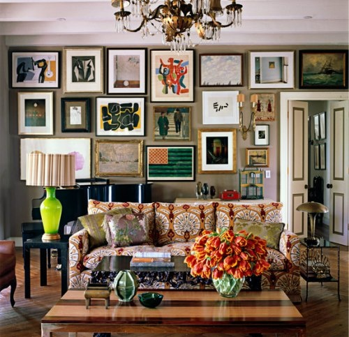 Intriguing art works could always provide that unique character that all boho interiors crave for.