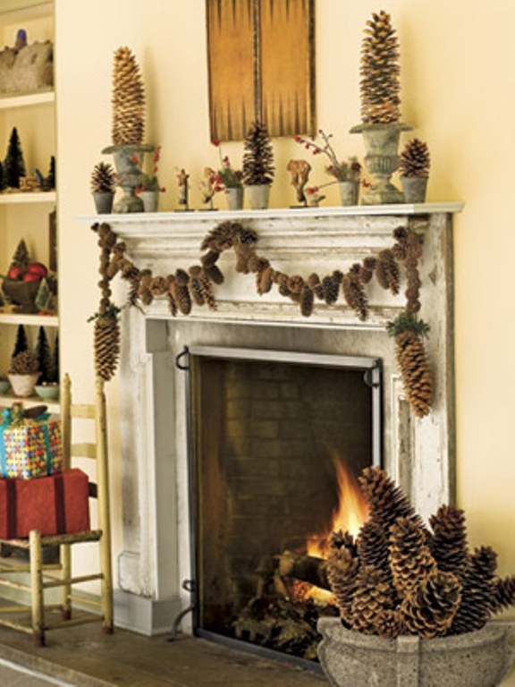 27 inspiring christmas fireplace mantel decoration ideas for How to decorate a fireplace for christmas