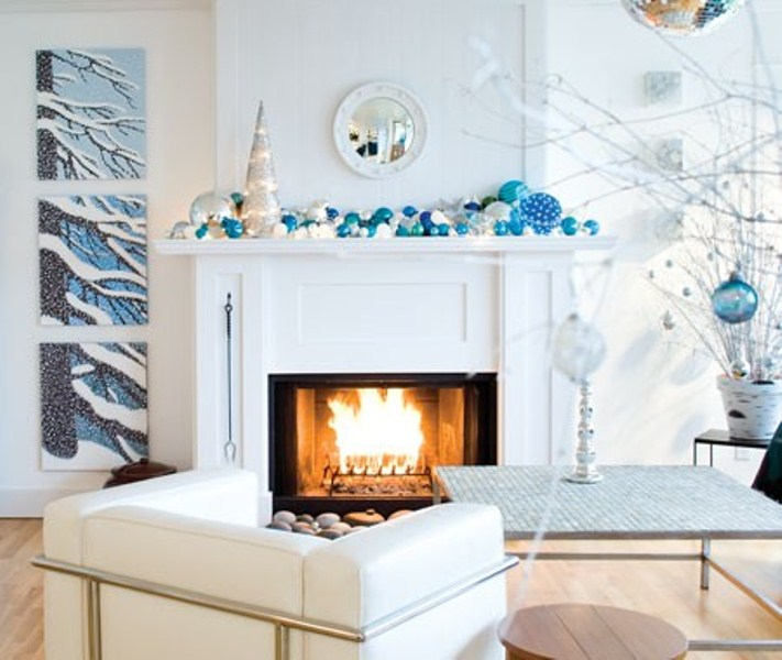 10 ways to decorate your fireplace mantel this - Modern christmas mantel ideas ...