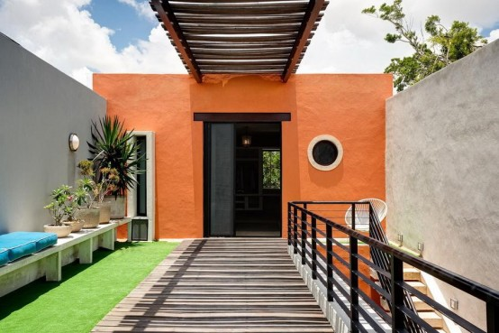 Inspiring Mexico Residence Bulit With Original Maya Tools