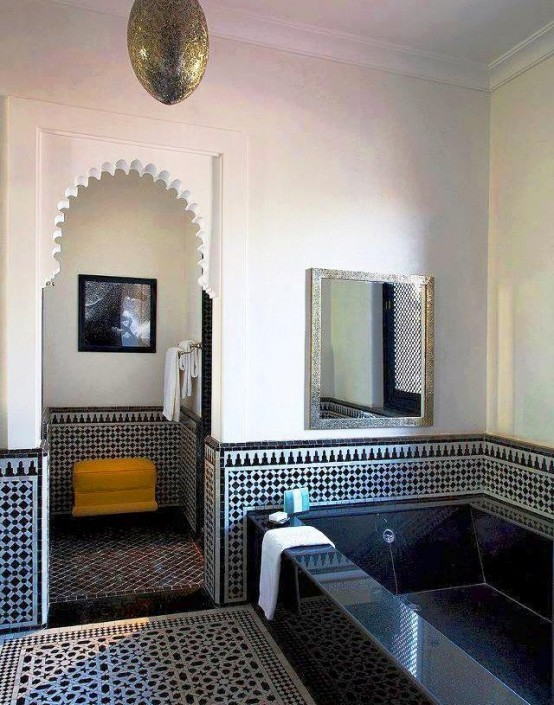 Eastern luxury 48 inspiring moroccan bathroom design for Salle de bain style hammam