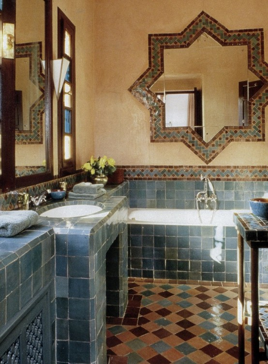 Eastern Luxury: 48 Inspiring Moroccan Bathroom Design ...