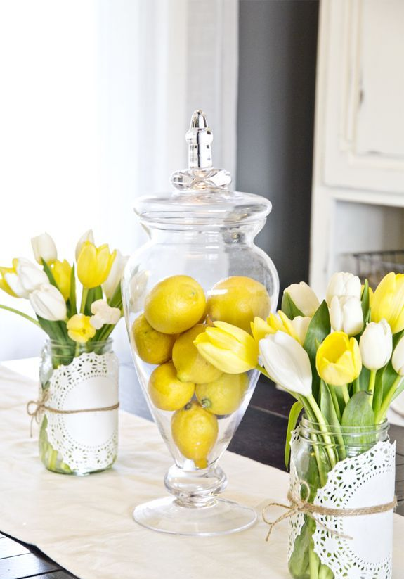 39 inspiring spring kitchen d cor ideas digsdigs for Blue and yellow kitchen decorating ideas
