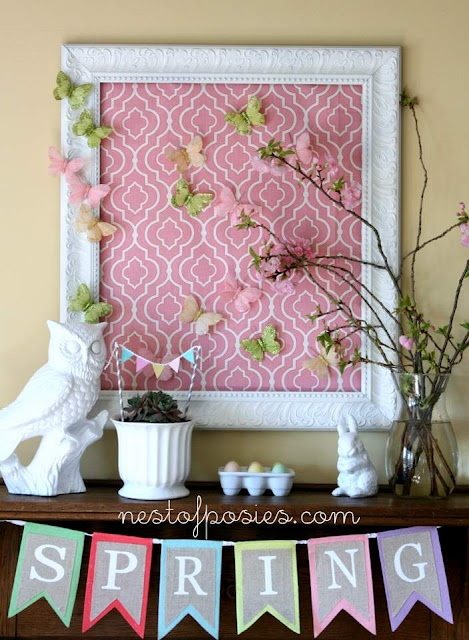 62 Inspiring And Fresh Spring Mantels - DigsDigs
