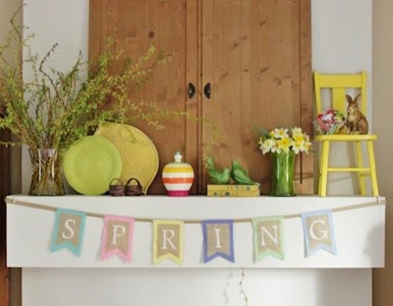 Inspiring Spring Mantels