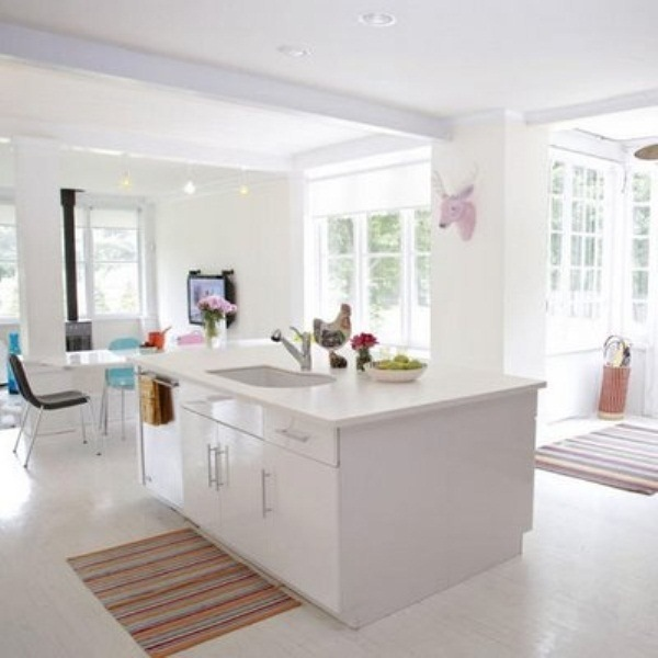 39 inspiring white kitchen design ideas digsdigs - Ilots de cuisine ...